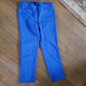 White House Black Market Cobalt Slim Ankle Pants
